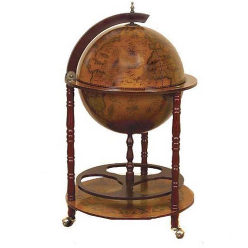 EC World Imports Antique Reproduction Sixteenth-Century Italian Old World Globe Mini Bar by ecWorld