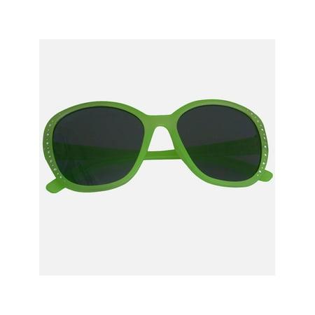 Zoo Crew Girls Green Studded Plastic Oversized Classic Frame Sunglasses for $<!---->