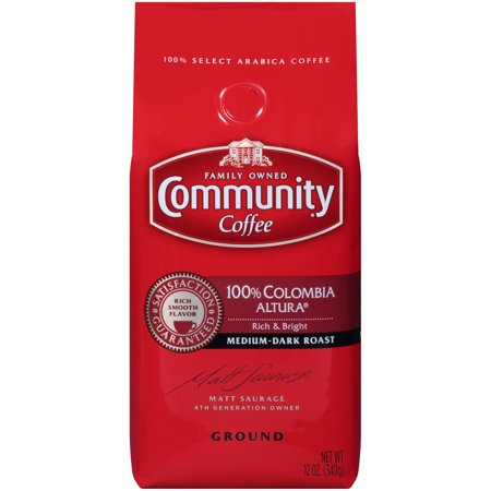 100% Columbian Coffee - Community® Coffee 100% Colombia Altura® Medium-Dark Roast Ground Coffee 12 oz. Bag