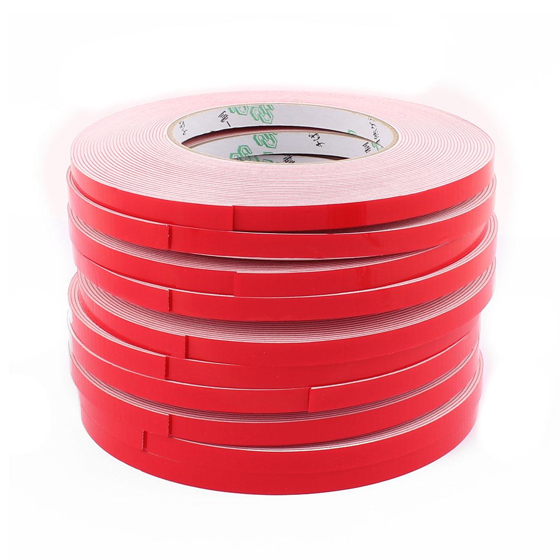 Unique Bargains 10PCS 8MM Width 10M Long 1MM Thick White Dual Sided Waterproof Sponge Tape