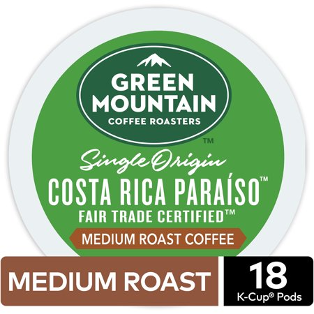 Green Mountain Coffee Costa Rica, Keurig K-Cup Pod, Medium Roast, 18 Ct (Estate Costa Rican Pods)