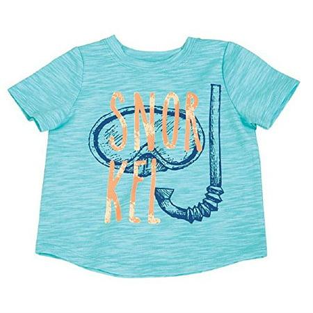 Tee Mud Pie (Mud Pie Baby Boys Snorkle Graphic Short Sleeve T-Shirt, Blue LG/ 4T-5T)