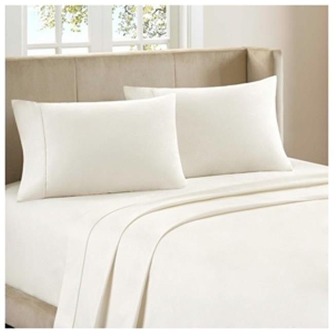 BedClothes Luxury 4 Piece Bamboo Comfort Bedding Sheet Set   Ivory   King