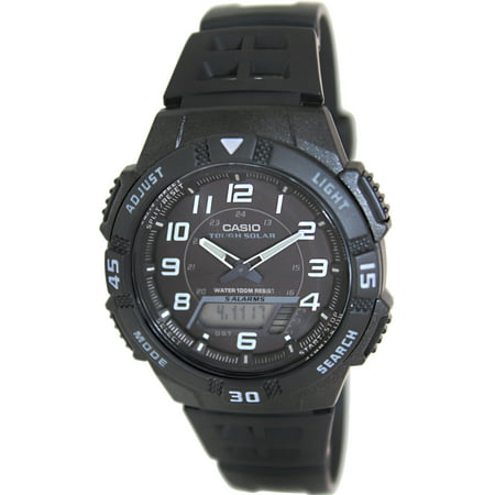 - Men's Core AQS800W-1BV Black Resin Quartz Sport Watch
