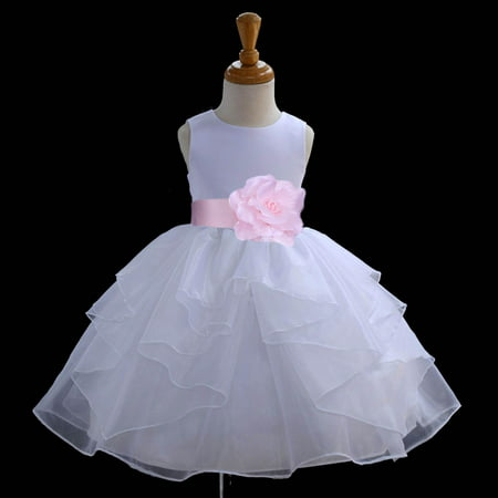 ed131be3 Ekidsbridal Shimmering Organza White Flower Girl Dress Weddings Handmade  Summer Easter Dress Special Occasions Pageant Toddler Girl's Clothing  Holiday ...