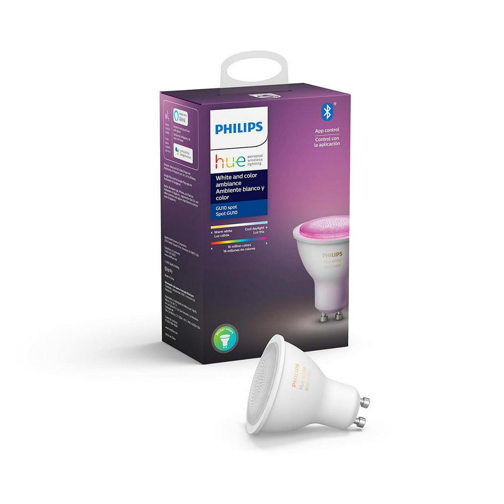 Philips Hue GU10 White Spotlight Bulb