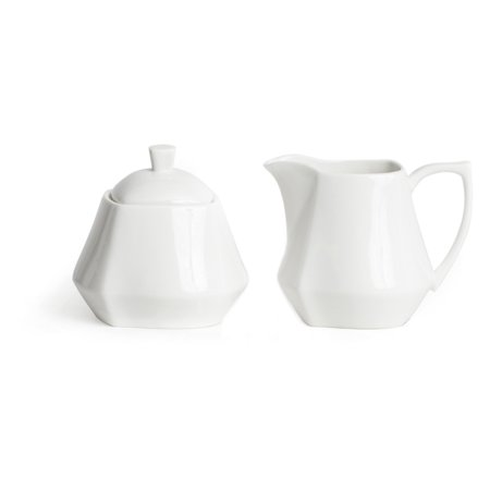 Red Vanilla Niagara White 4 In  Covered Sugar Bowl And Creamer Set