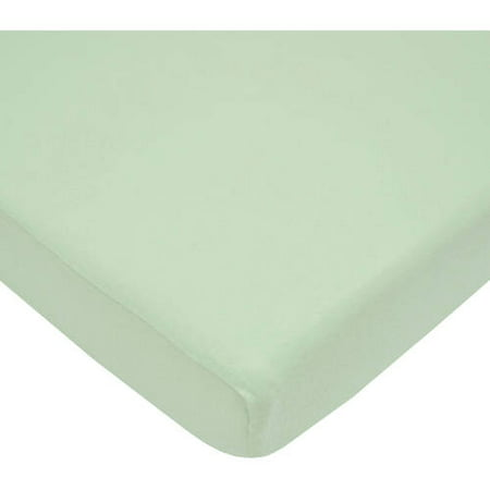 American Baby Company 100% Cotton Supreme Jersey Knit Fitted Crib Sheet for Standard Crib and Toddler Mattresses, Celery