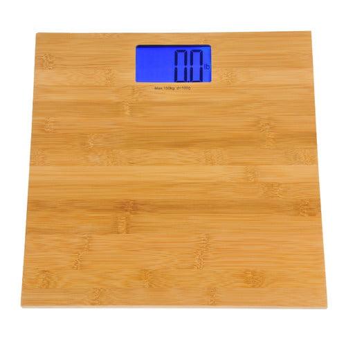 Kalorik Digital Bathroom Scale, Bamboo Finish