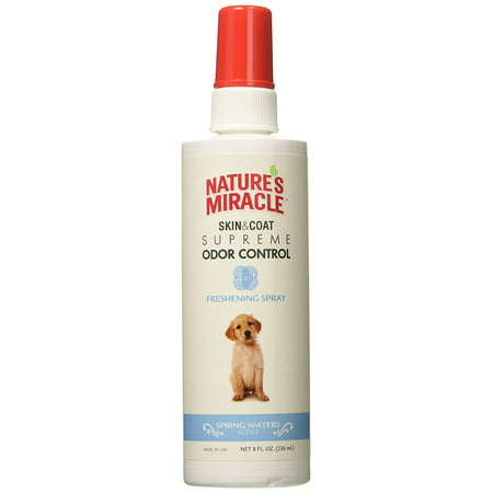 Nature's Miracle Odor Control Freshening Spray - Spring Waters - 8 (Best Thermal Spring Water Spray)