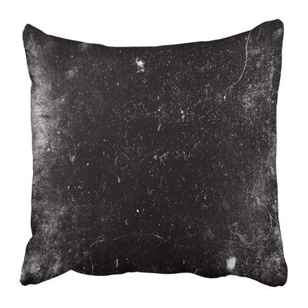 ARTJIA Black Scratch Scary Grunge Dark Scratched White Old Halloween Dirt Abstract Horror Grungy Creepy Pillowcase 20x20 inch](Halloween Dirt)