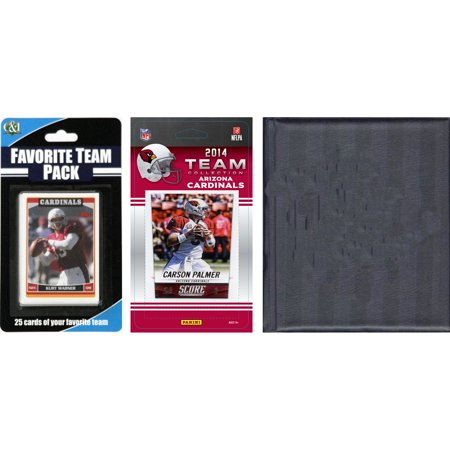 C Collectables Nfl Arizona Cardinals Licensed 2014 Score Team Set And Favorite Player Trading Card Pack Plus Storage Album