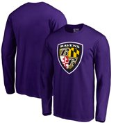 Baltimore Ravens NFL Pro Line by Fanatics Branded Hometown Collection Long Sleeve T-Shirt - Purple