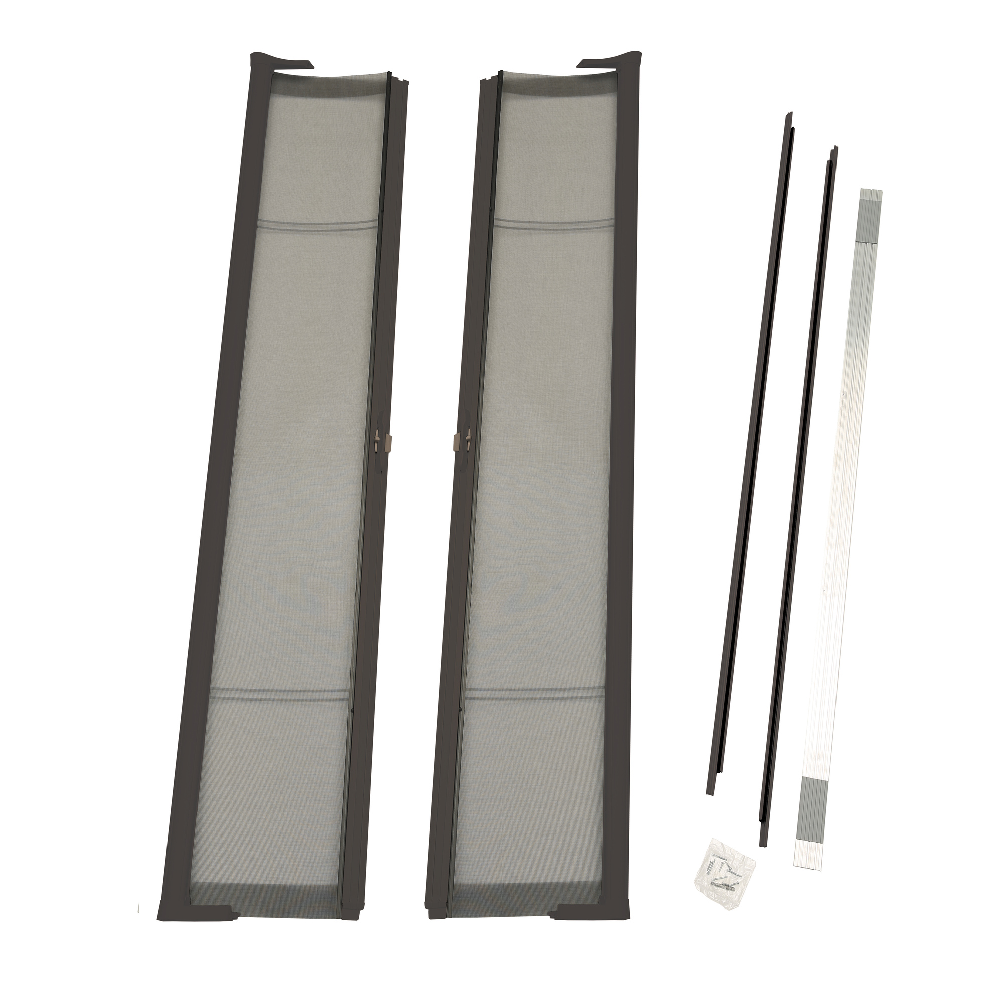 """ODL Brisa Bronze Standard Double Door Single Pack Retractable Screen for 80"""" Inswing/Outswing Doors"""