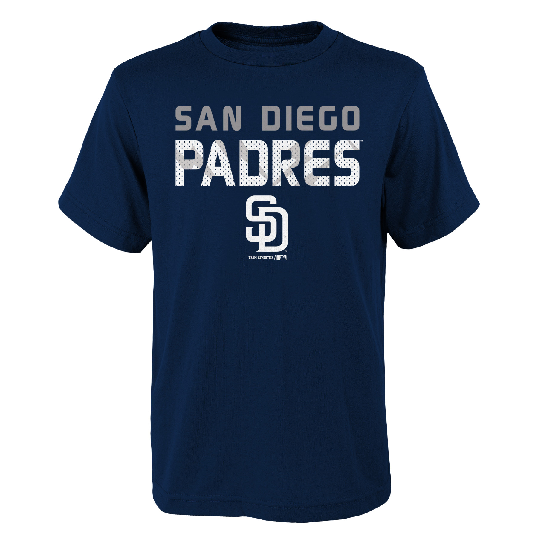 MLB San Diego PADRES TEE Short Sleeve Boys Team Name and LOGO 100% Cotton Team Color 4-18