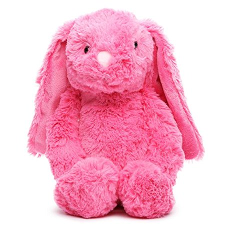 Dark Pink Bunny Rabbit Plush, Soft Easter Springtime plush bunny with floppy ears and plastic eyes. By Gitzy Ship from US (Track The Easter Bunny)