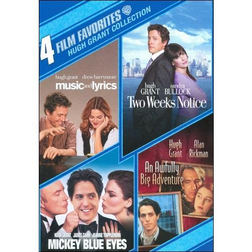 4 Film Favorites: Hugh Grant Collection - Music And Lyrics / Two Weeks Notice / Mickey Blue Eyes / An Awfully Big Adventure (Widescreen)
