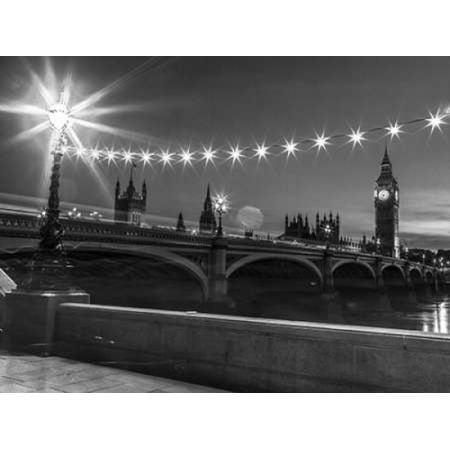 Westminster Bridge And Big Ben From Thames Promenade London Uk Poster Print By  Assaf Frank
