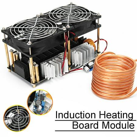 - ZVS Induction Heating Board Module Flyback Driver Heater w/ Fan + Coil 40A 1800W