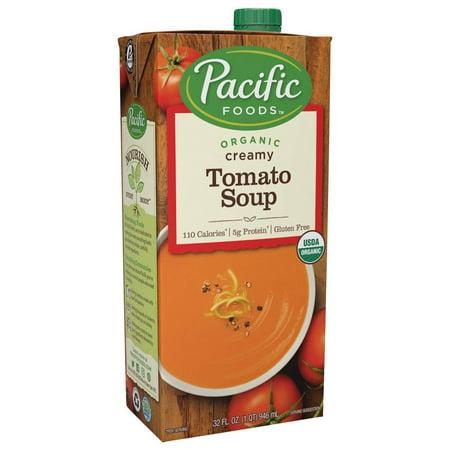 (2 Pack) Pacific Foods Organic Creamy Tomato Soup, 32-Ounce Carton Creamy Leek Soup