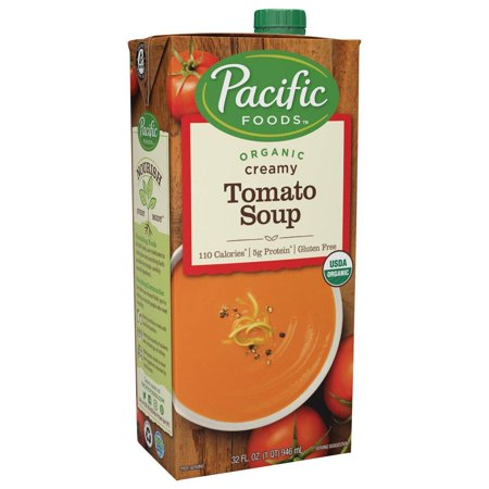 - (2 Pack) Pacific Foods Organic Creamy Tomato Soup, 32-Ounce Carton