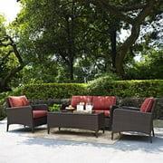 Crosley Furniture Kiawah 4 Piece Outdoor Wicker Seating Set