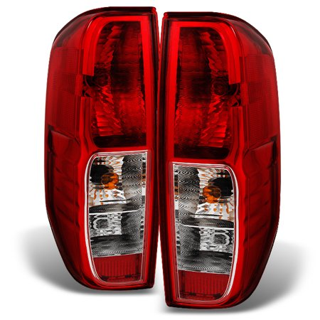 Fits 05-14 Frontier 09-12 Suzuki Equator Red Clear Taillights Replacement  Pair