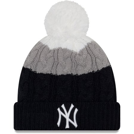 newest b3dce 5e517 New York Yankees New Era Women s Layered Up 2 Cuffed Knit Hat with ...
