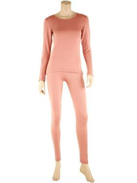 Product Image SLM ThermaTek Women s Microfiber Fleece Thermal Underwear Two  Piece Long Johns Set 6b9888f02