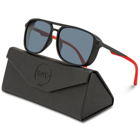 WearMe Pro - Polarized Modern Square Aviator Sunglasses for Men ()