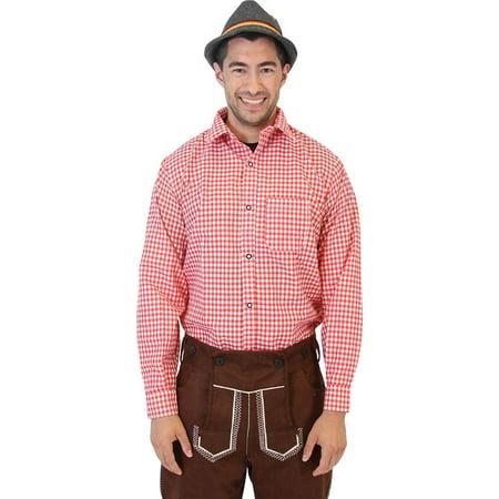 Oktoberfest German Bavarian Trachten Costume Plaid Shirt