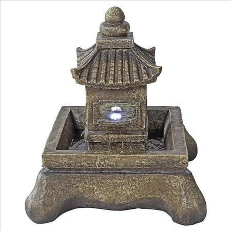 Design Toscano Mokoshi Pagoda Illuminated Garden Fountain ()