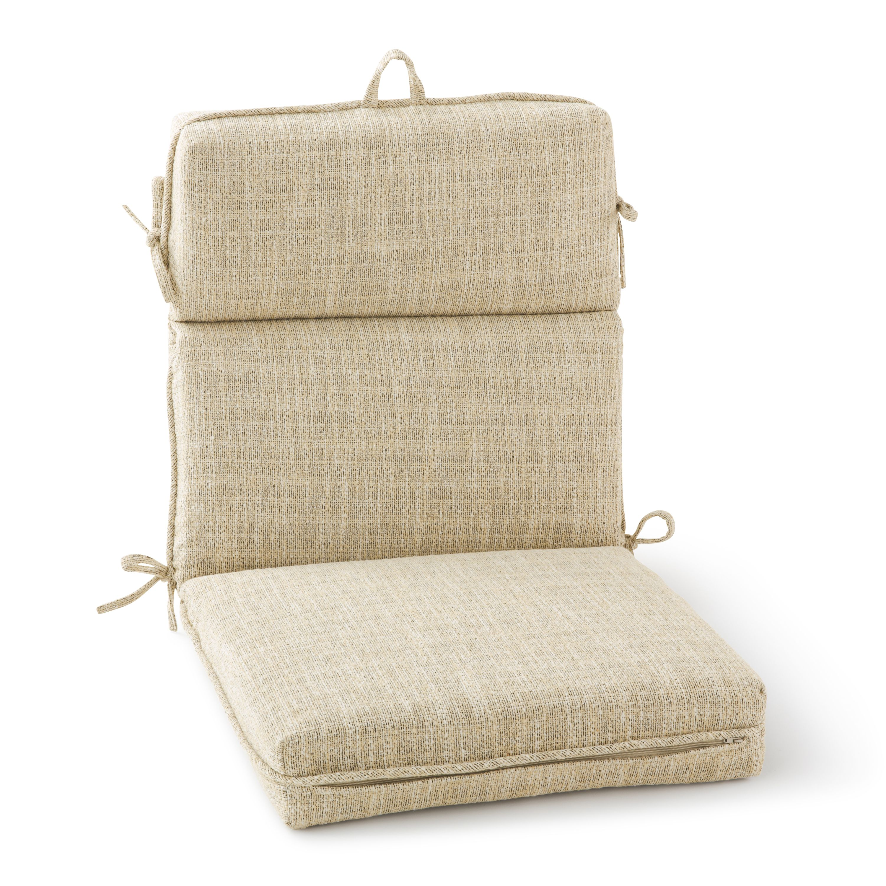 Better Homes Gardens High Back Outdoor Chair Cushion In Jute 21 X 44 Walmart Com Walmart Com