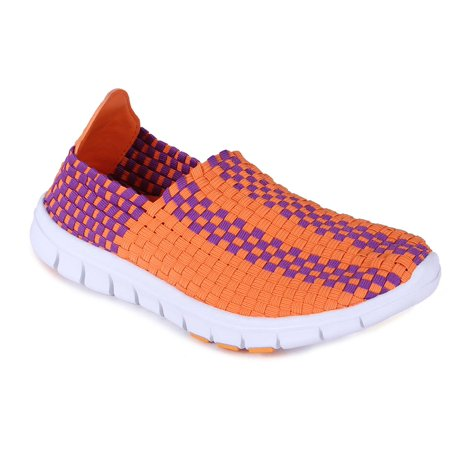 Happy Feet Mens and Womens Clemson Tigers NCAA Woven Shoe (Bear Feet Shoes Clearance)