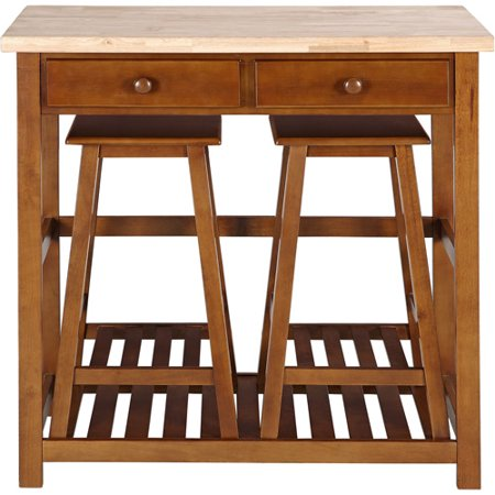 Kitchen island spacesaver set with stool - Space saving kitchen island ...