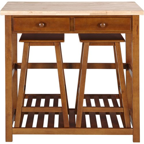 Kitchen Island Spacesaver Set With Stool