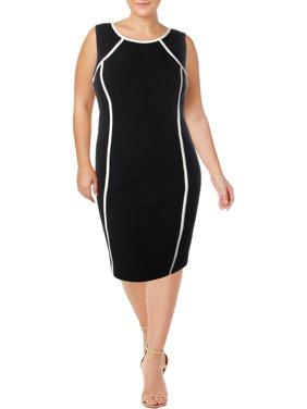 6a9859bedc1 Product Image Kasper Womens Plus Crepe Sleeveless Wear to Work Dress