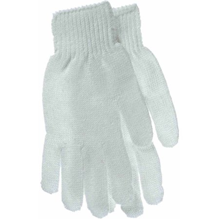 Men's Large White Reversible String Knit Gloves