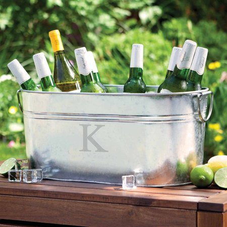 Personalized Steel Beverage Tub, Single Initial