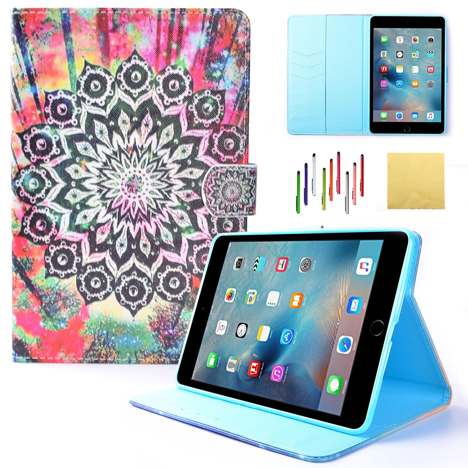 iPad Mini 3 Case, iPad Mini 2 Cover, iPad Mini Case, Goodest PU Leather Multi-Angle Viewing Folio Stand Cover with Auto Wake/Sleep for 7.9 inch iPad Mini 3 2 1 Tablet, Colorful Mandala
