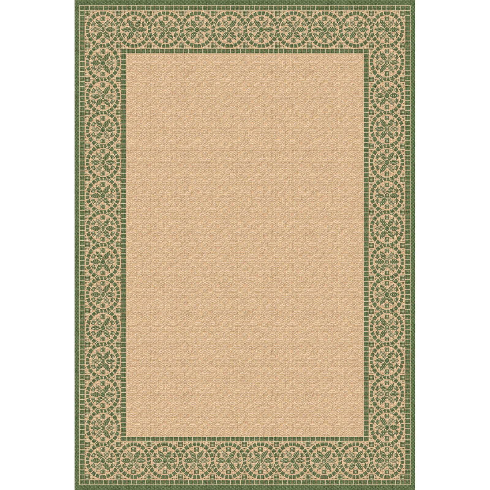 Dynamic Rugs Piazza Mosaic Indoor/Outdoor Area Rug - Natural/Green