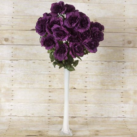 BalsaCircle 96 Giant Open Rose Bush Silk Flowers - DIY Home Wedding Party Artificial Bouquets Arrangements Centerpieces
