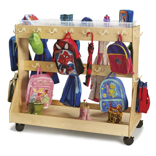 Jonti-Craft Backpack Double Sided Cubby with Trays