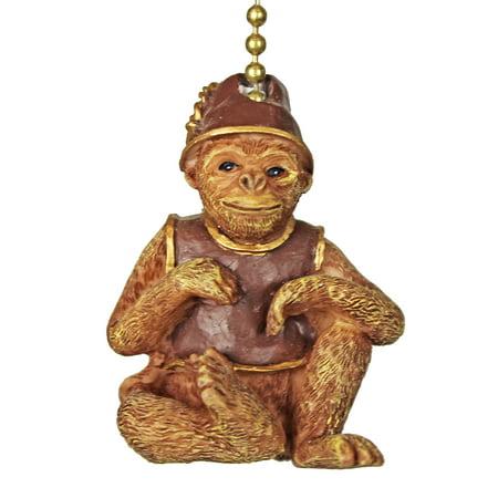 Tiki Tropical Monkey Ceiling Fan or Light Pull - Color Pull Arm Monkeys