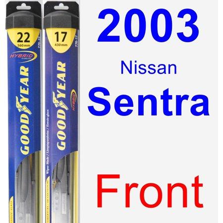 2003 Nissan Sentra Wiper Blade Set/Kit (Front) (2 Blades) - Hybrid