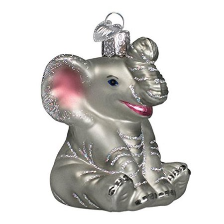 Old World Christmas Little Elephant Glass Blown - Old Fashioned Christmas Ornaments