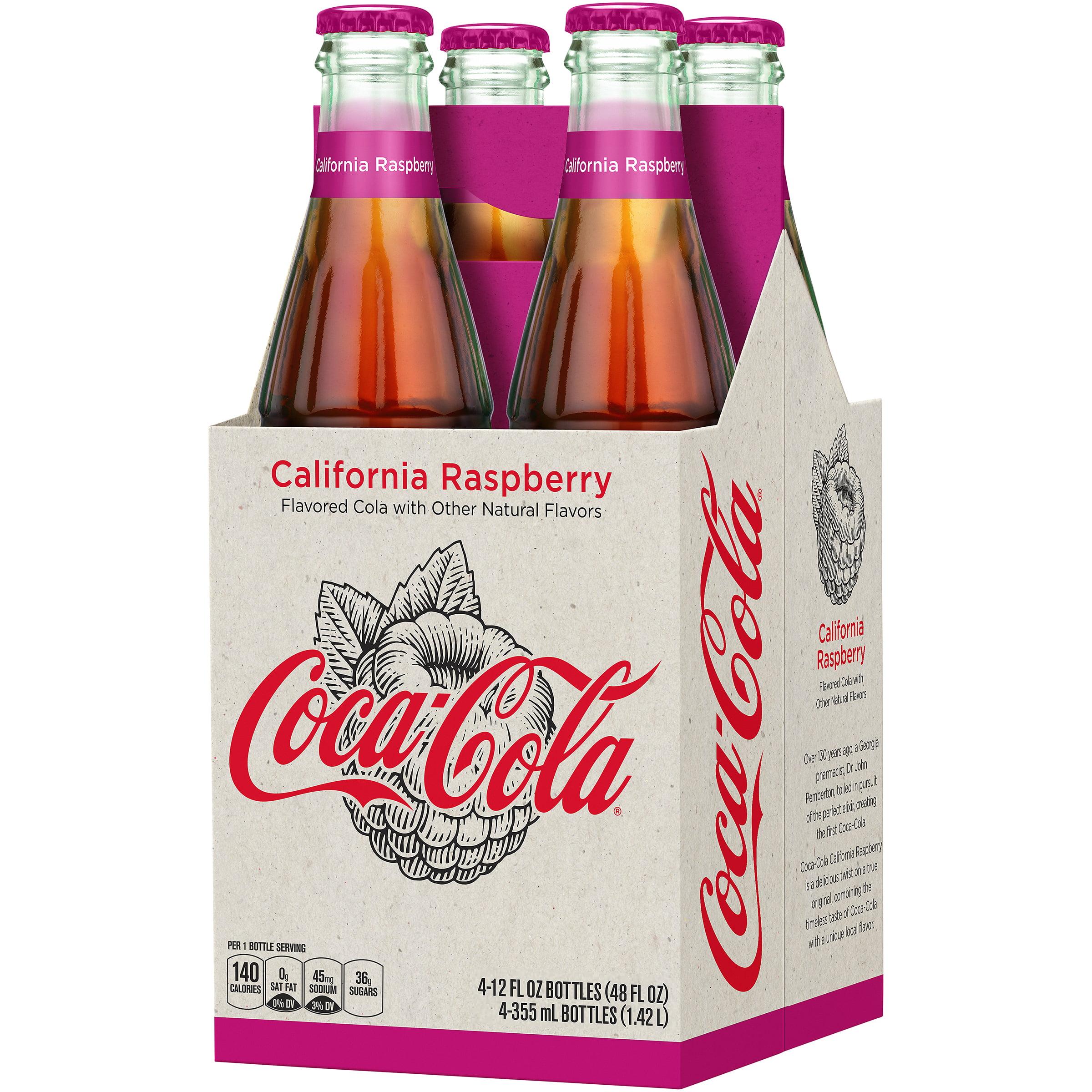 1c1a92975b2621 Coca-Cola Soda, California Raspberry, 12 Fl Oz, 4 Count - Walmart.com
