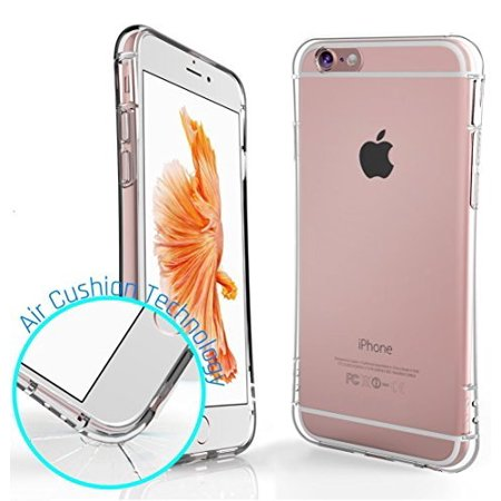 separation shoes a10a0 8bcd3 iPhone 6S Case, Ixir {Air Cushion} - Transparent Crystal Clear  {Shock-proof} Case for Apple iPhone 6S 6 - TPU Rubber Flexible Case
