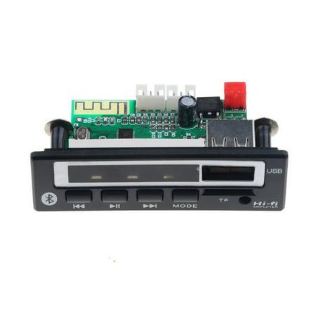 MP3 WMA WAV Decoder Board 5V 12V Wireless Audio Module Color Screen USB - image 2 de 4