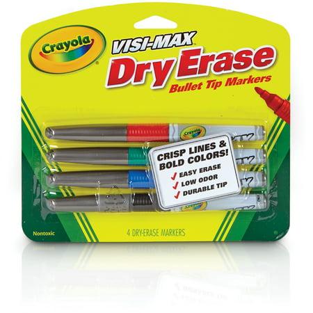 Crayola Visi-Max Dry-Erase Fine Line Markers, - Crayola Washable Dry Erase Markers